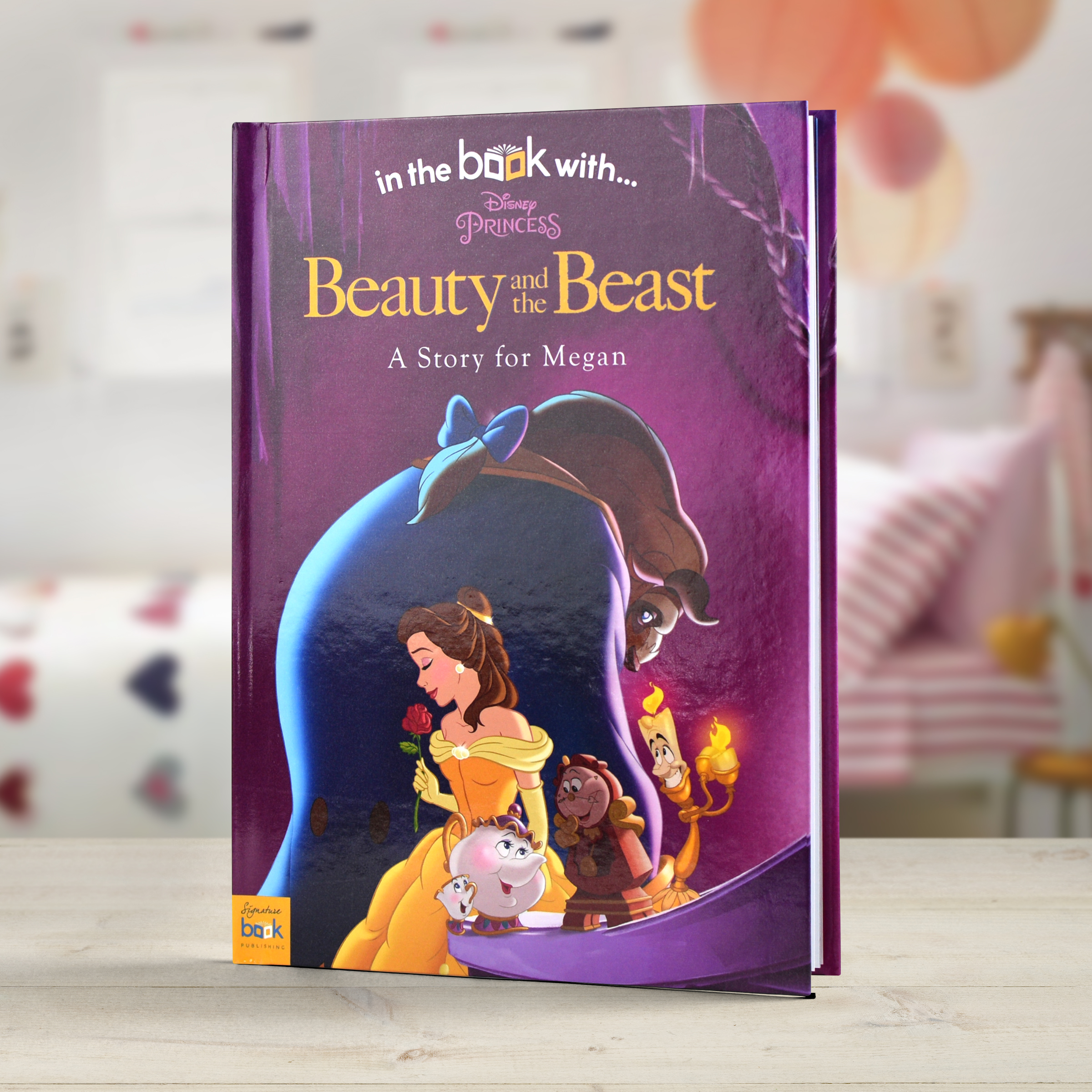 Personalised Disney Beauty The Beast Story Book Signature Gifts