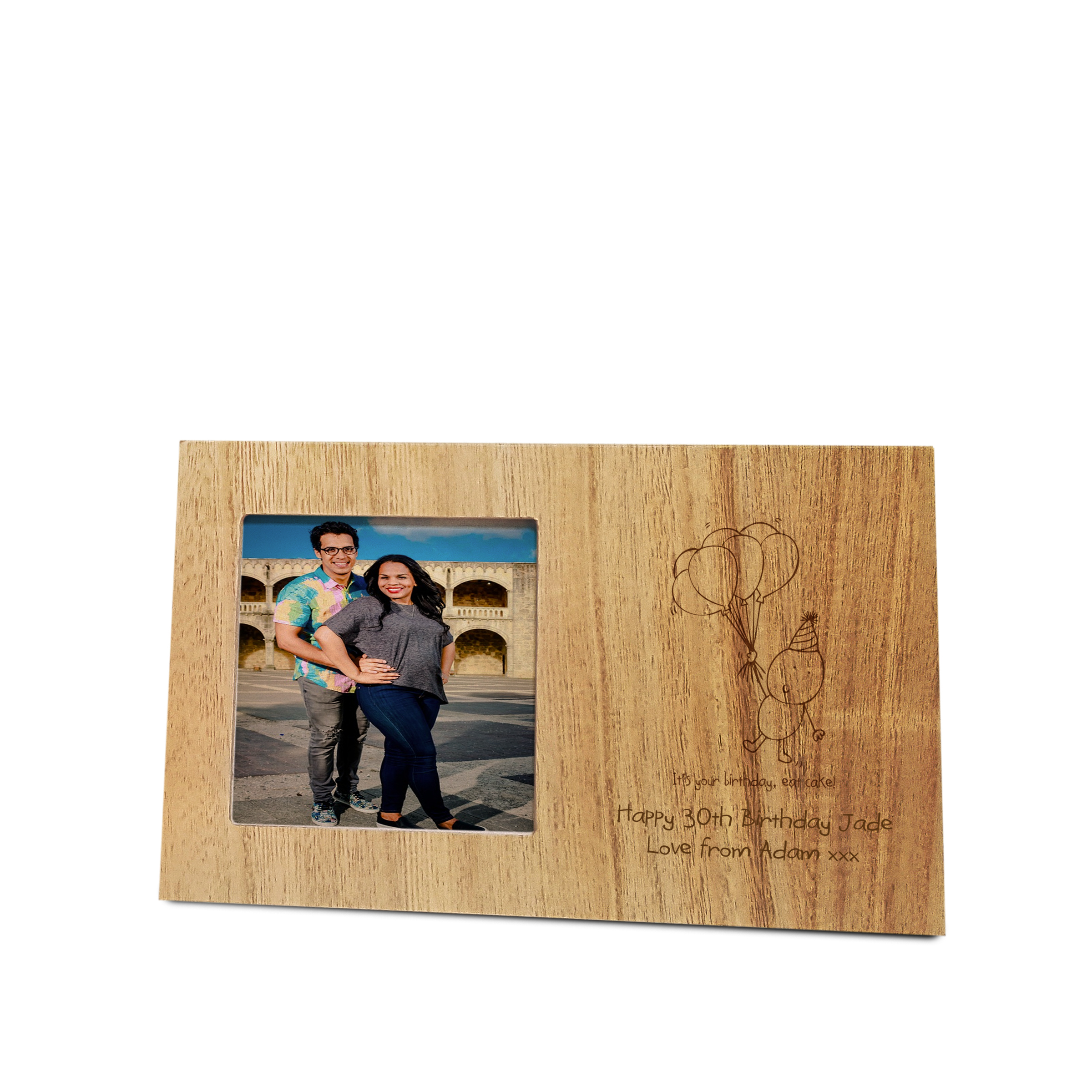 Chilli Bubbles Birthday Wooden Panel Frame