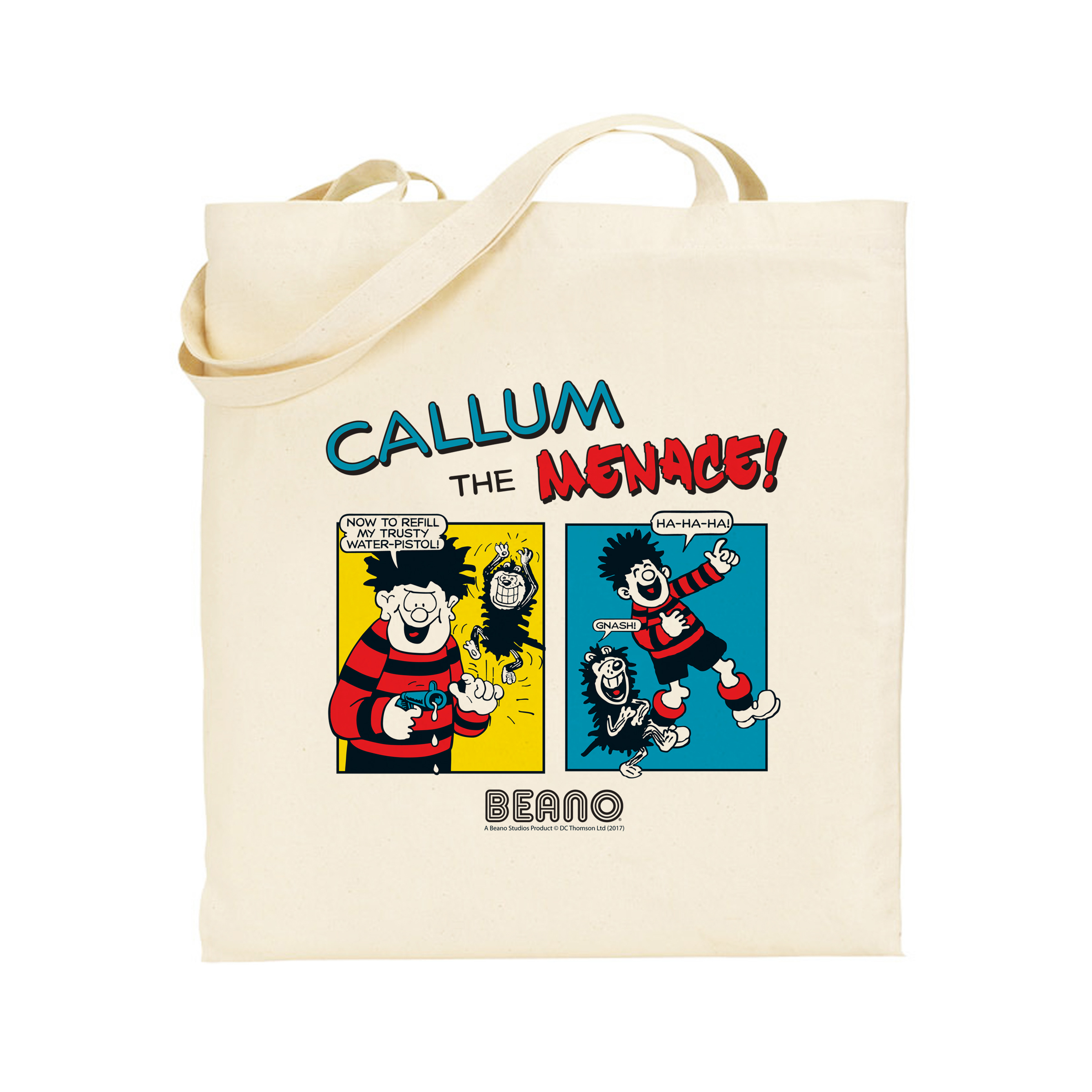 Beano Classic Comic Strip Water Pistol Tote Bag