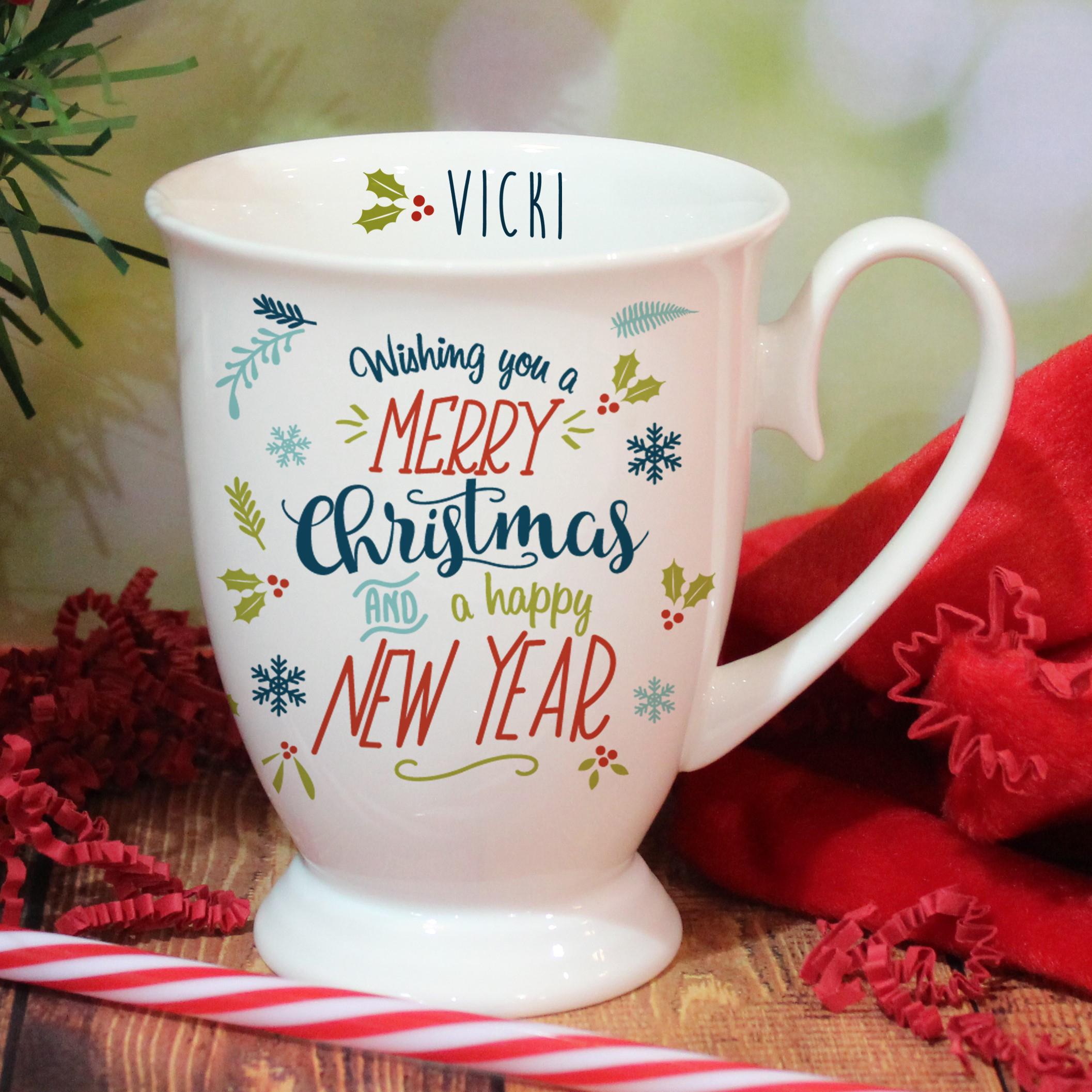 Wishing You A Merry Christmas Marquee Mug Signature Gifts