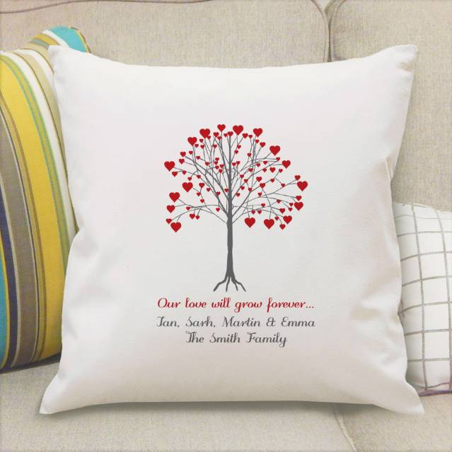 Our Family Together Forever Present Gift Personalised Cushion Cover