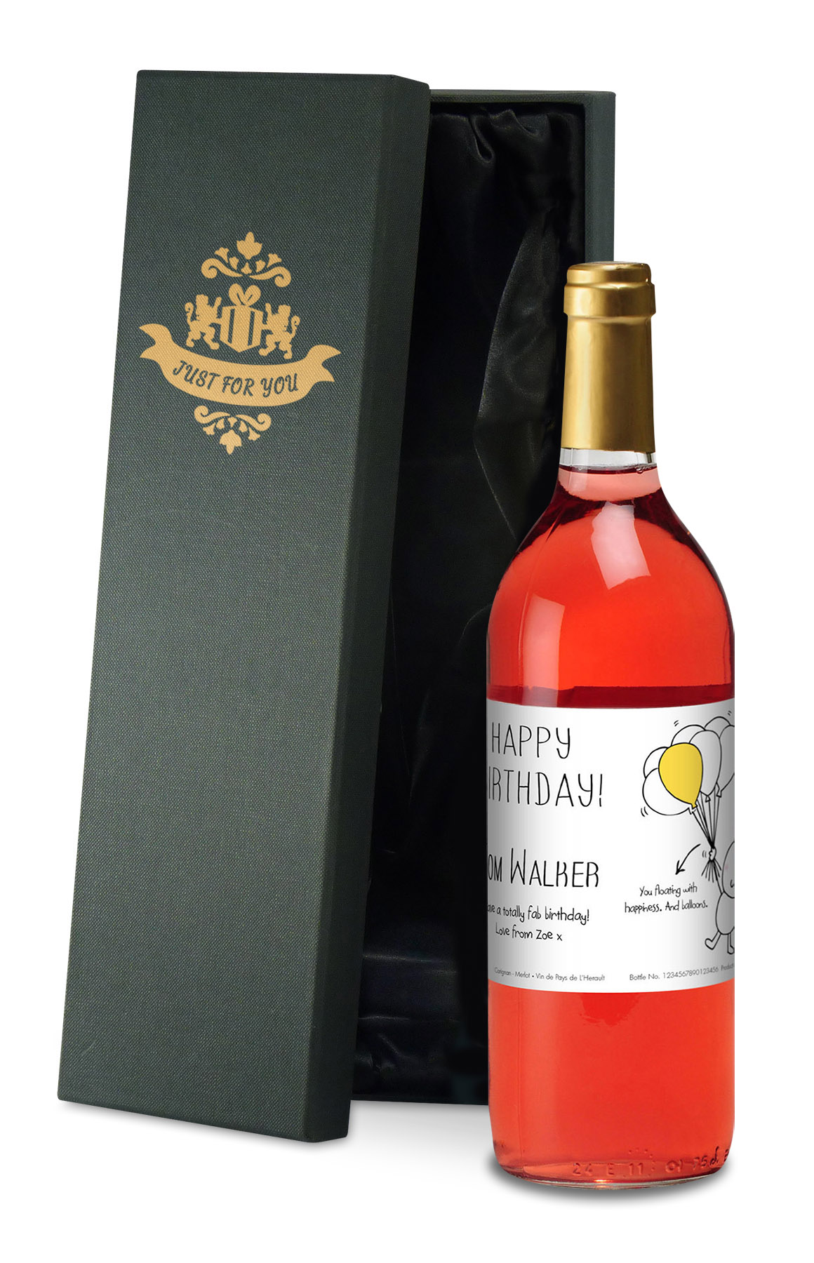 Personalised Chilli Bubbles Birthday Rose Wine