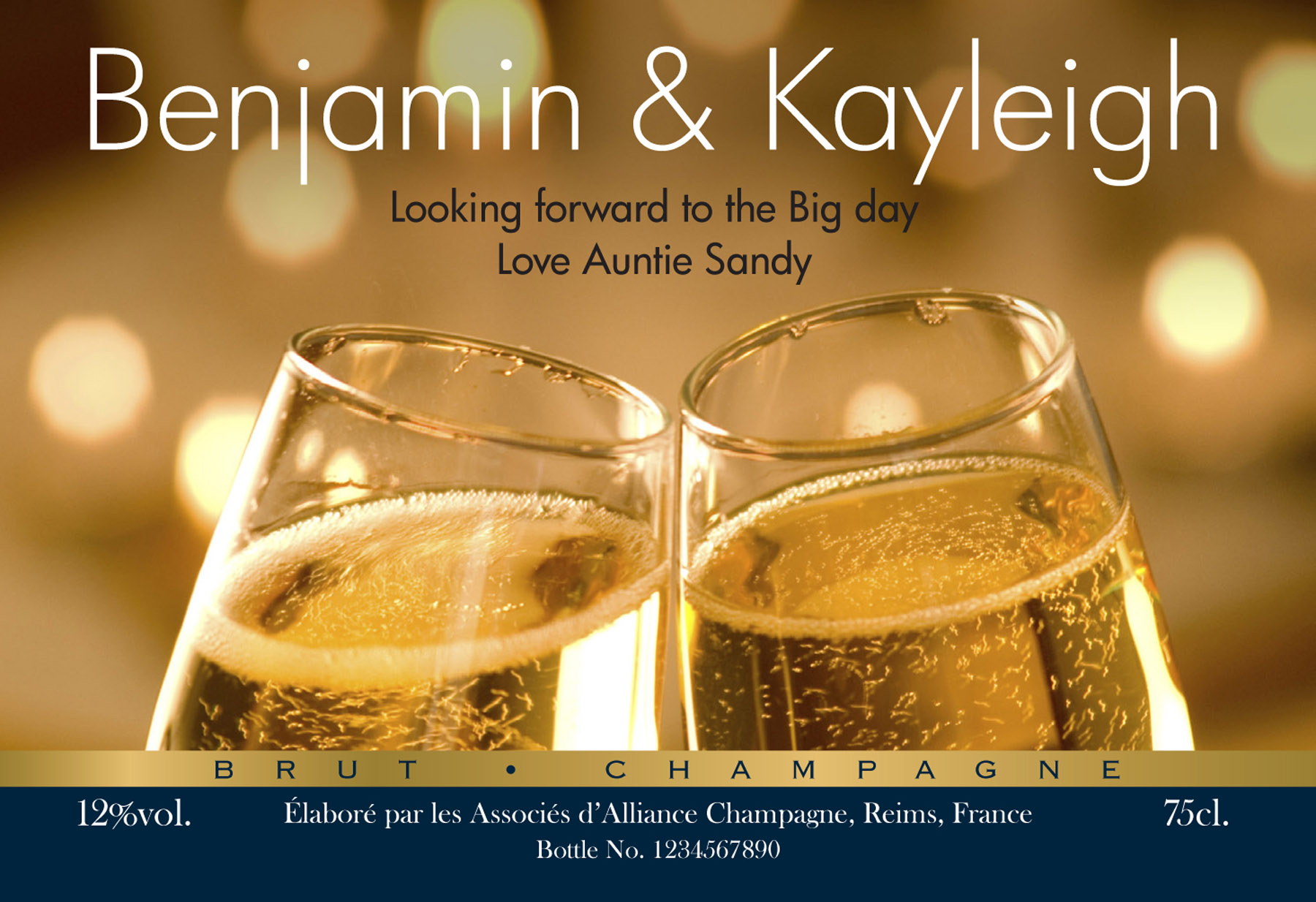 Personalised Engagement Flutes Champagne | Signature Gifts