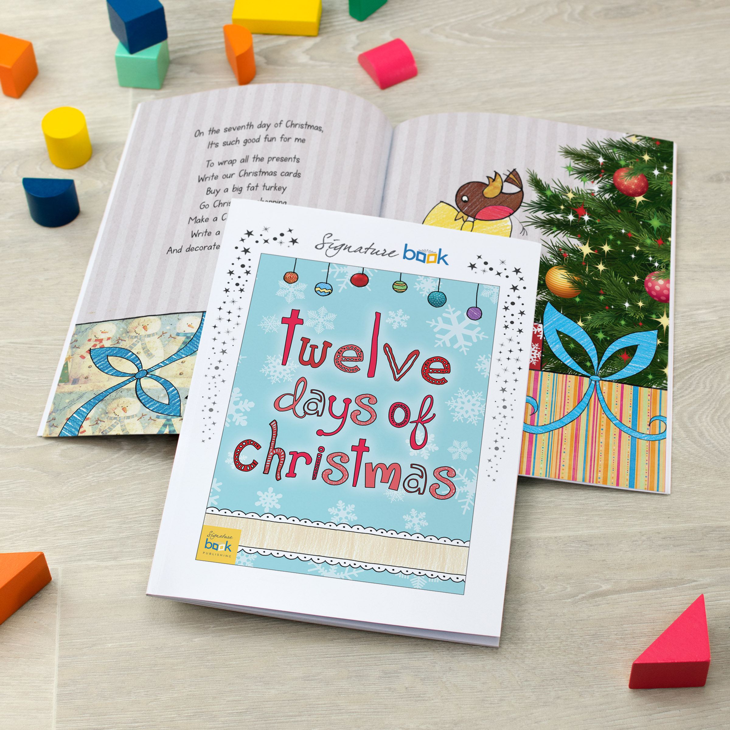 12 Days Of Christmas Gifts.Personalised 12 Days Of Christmas Book Signature Favourite