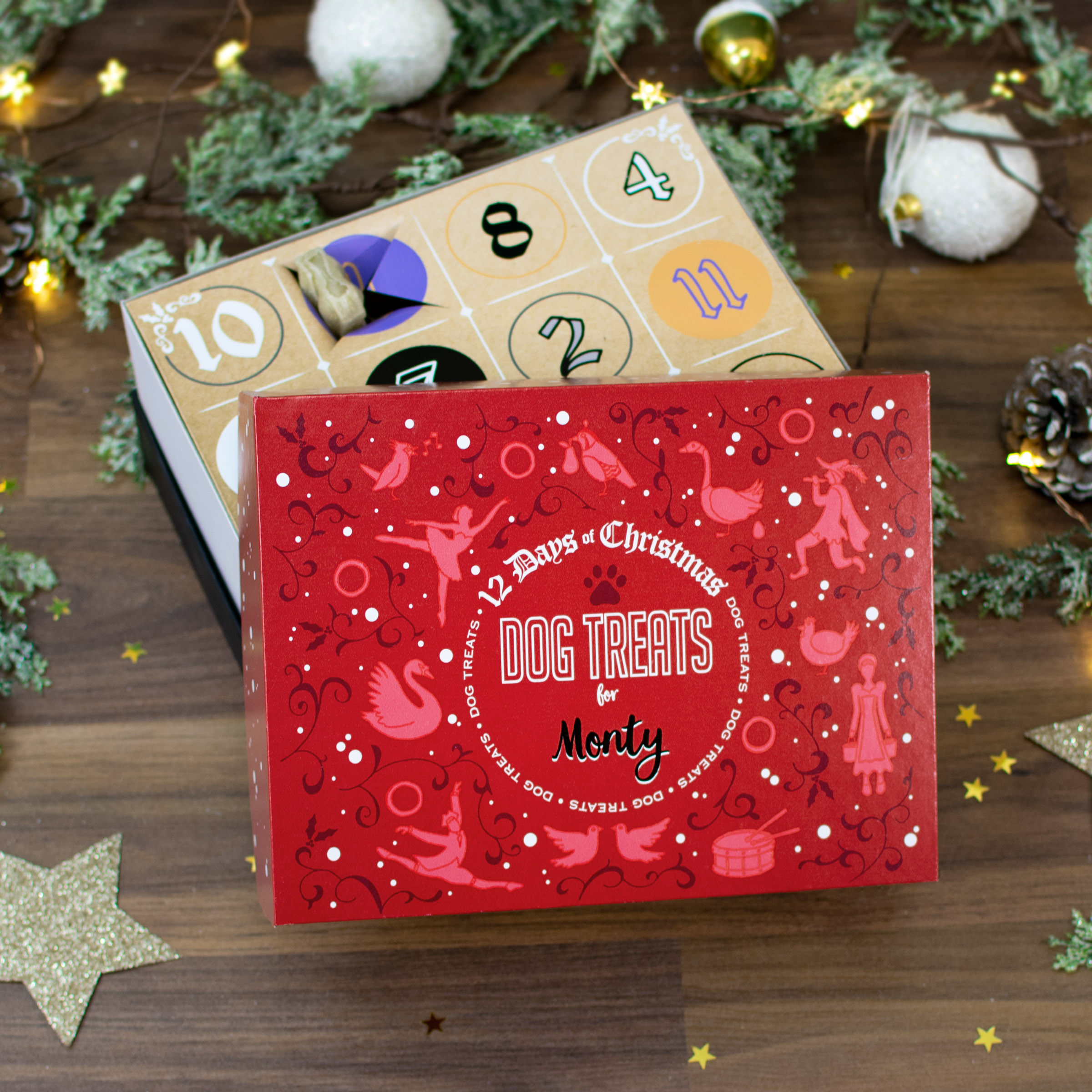 12 Days Of Christmas.12 Days Of Christmas Gift Box Dog Treats
