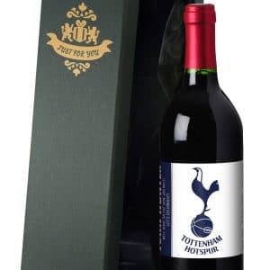 Personalised Spurs Red Wine
